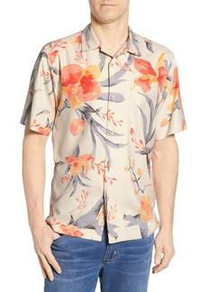 Tommy Bahama Aqua Blooms Classic Fit Silk Sport Shirt
