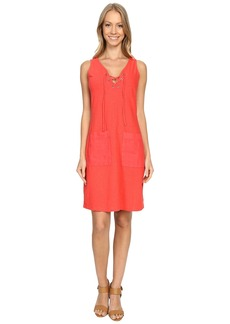 Tommy Bahama Arden Jersey Lace-Up Dress