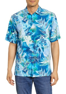 Tommy Bahama Azul Lagoon Classic Fit Short Sleeve Silk Button-Up Sport Shirt