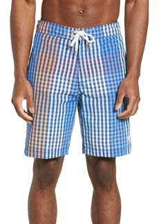 Tommy Bahama Baja King of Gingham Classic Fit Swim Trunks