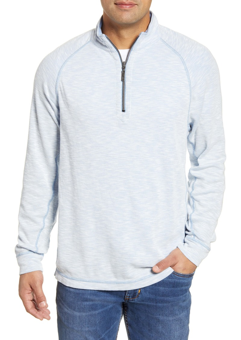 Tommy Bahama Barrier Beach Reversible Half Zip Pullover