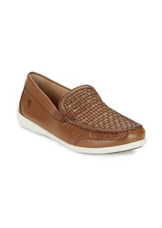 Tommy Bahama Basketweave Leather Loafers