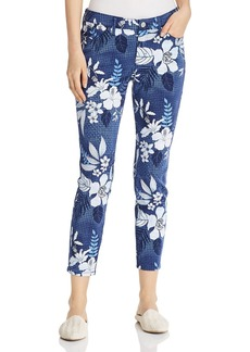 Tommy Bahama Basta Blossoms Cropped Printed Skinny Jeans in Island Navy