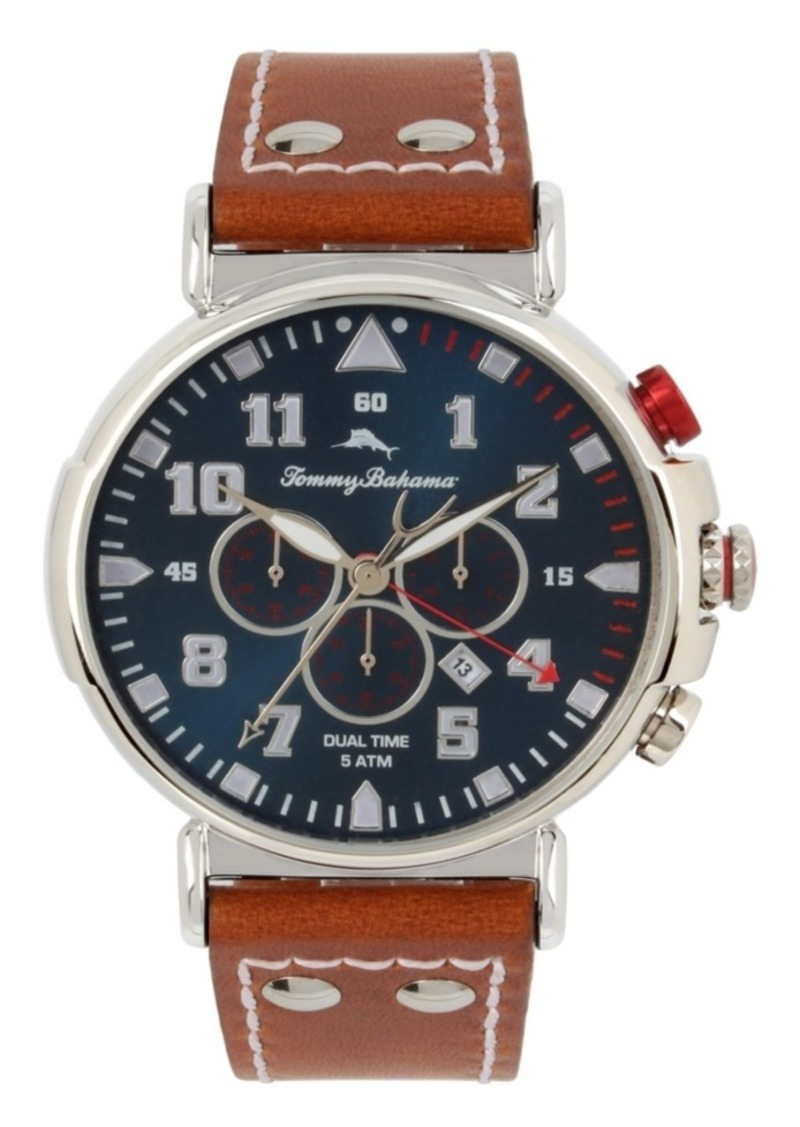 Tommy Bahama Bay View Dual Time Chronograph Watch