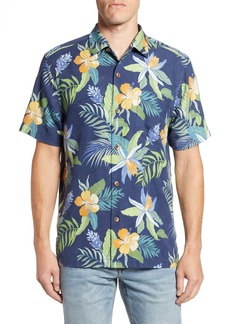 Tommy Bahama Beach Crest Blooms Short Sleeve Silk Blend Sport Shirt