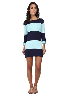 Tommy Bahama Beach Sweater Bold Stripe w/ Roll Up Sleeve Cover-Up