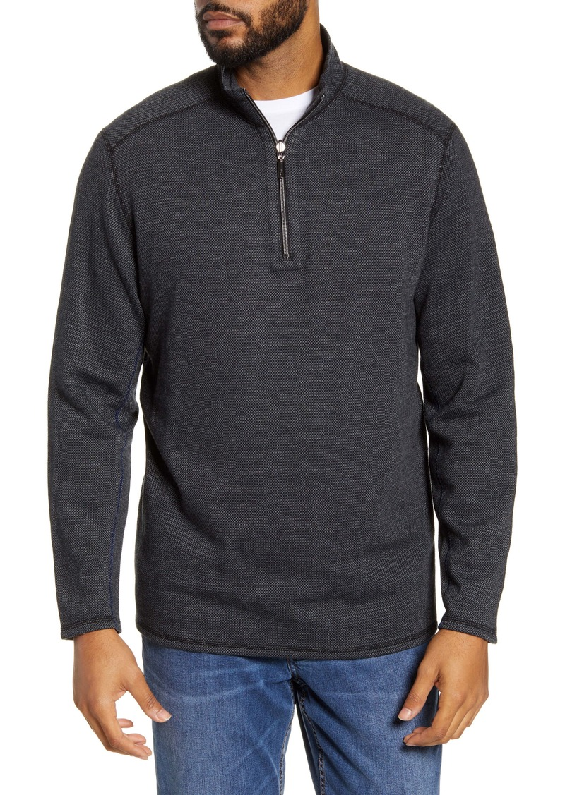 Tommy Bahama Black Half Zip Pullover