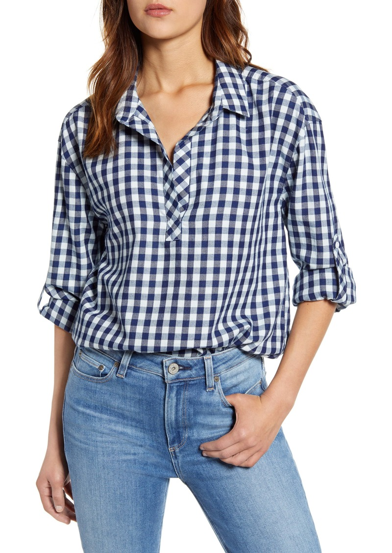 Tommy Bahama Bonita Check Popover Top