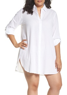Tommy Bahama Boyfriend Shirt Cover-Up (Plus Size) (Nordstrom Online Exclusive)