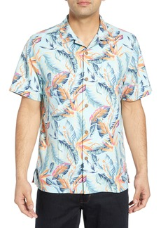 Tommy Bahama Break Wave Fronds Silk Blend Sport Shirt