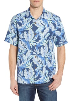 Tommy Bahama Break Wave Fronds Silk Blend Sport Shirt