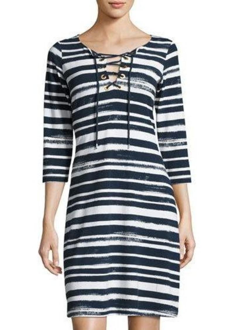 Tommy Bahama Brushed Breaker Striped Dress