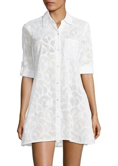 Tommy Bahama Burnout Cotton Shirt Dress