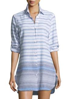 Tommy Bahama Button-Front Striped Linen Beach Shirt