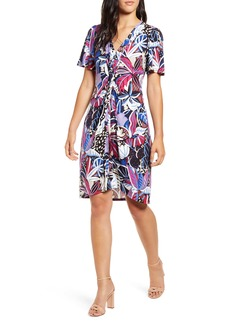 Tommy Bahama Cactus to Clouds Twist Front Short Sleeve Dress