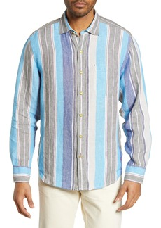 Tommy Bahama Chandler Bay Stripe Linen Sport Shirt