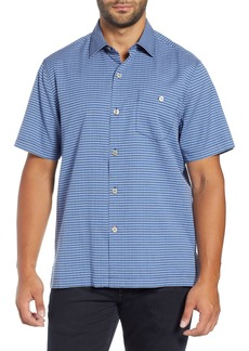 Tommy Bahama Check in the Tropics Silk & Cotton Camp Shirt