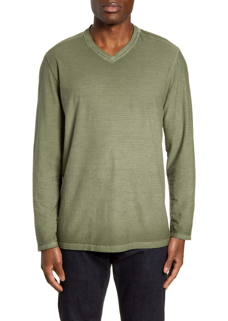 Tommy Bahama Cirrus Coast Classic Fit Long Sleeve V-Neck T-Shirt