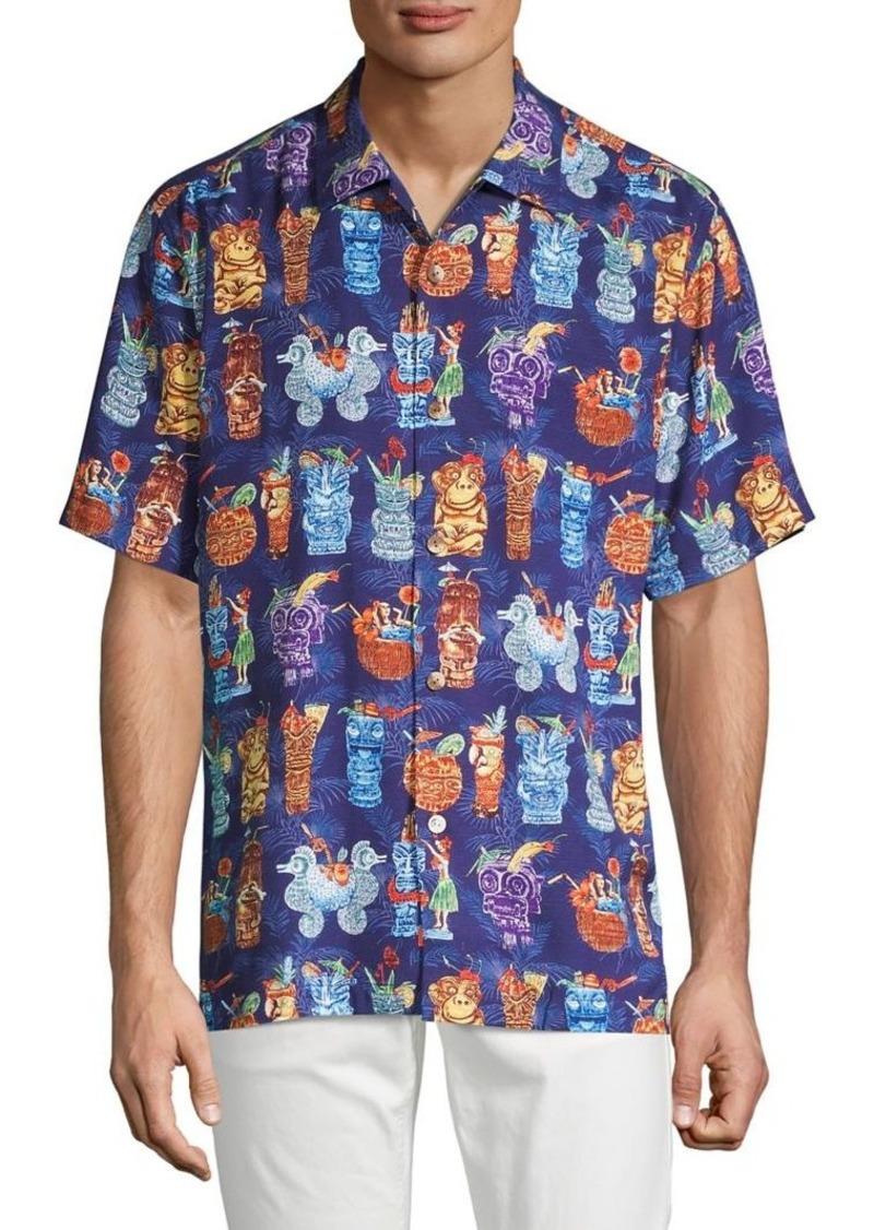 Tommy Bahama Classic-Fit Tiki Bar Camp Shirt