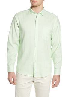 Tommy Bahama Costa Capri Classic Fit Linen Blend Button-Up Shirt