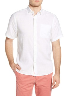 Tommy Bahama Costa Capri Classic Fit Short Sleeve Linen Blend Button-Up Shirt
