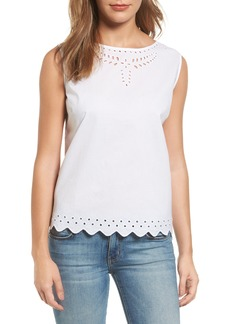 Tommy Bahama Cotton Eyelet Top