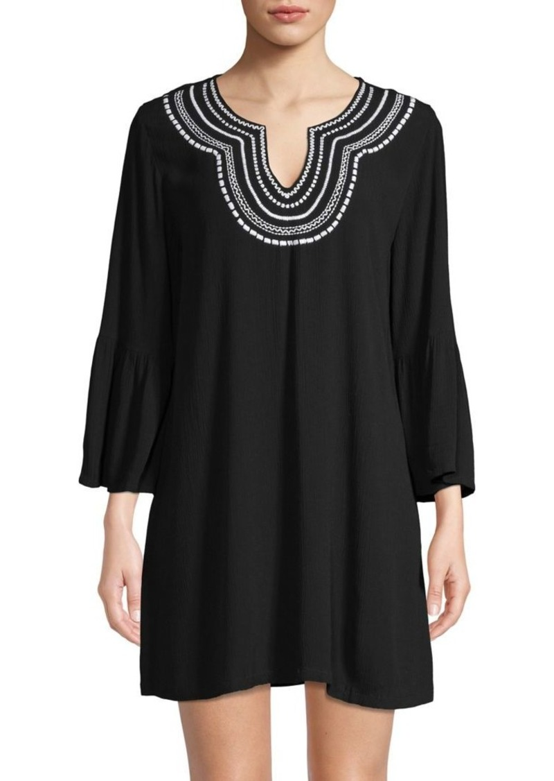 Tommy Bahama Covers Embroidered Bell-Sleeve Coverup Tunic