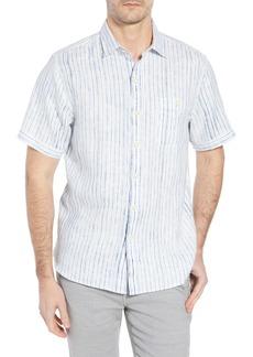 Tommy Bahama Del Soul Stripe Linen Sport Shirt