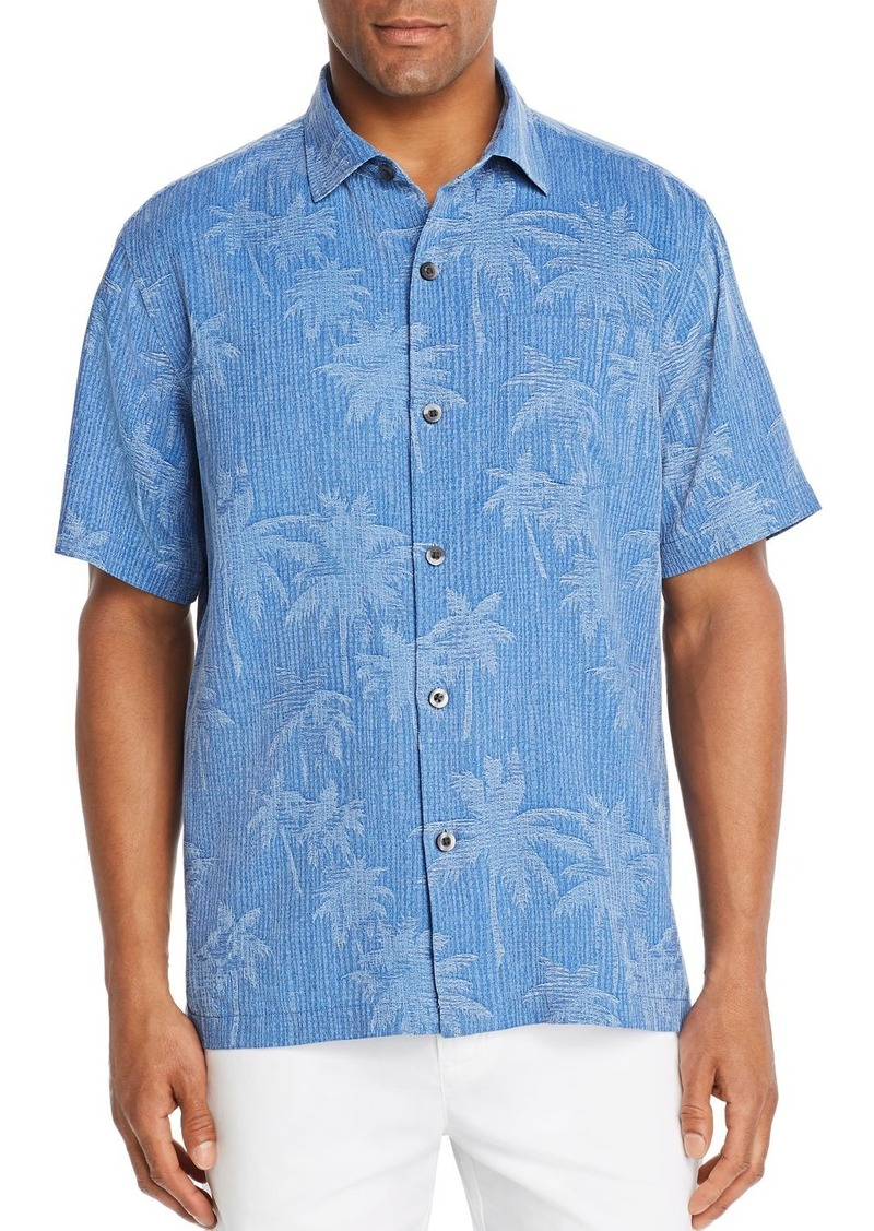 Tommy Bahama Digital Palm Short-Sleeve Silk Jacquard Classic Fit Shirt