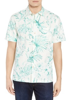 Tommy Bahama El Botanico Regular Fit Cotton & Silk Sport Shirt