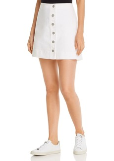 Tommy Bahama Ella Button-Front Denim Mini Skirt