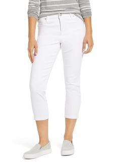 Tommy Bahama Ella Twill High Waist Crop White Jeans
