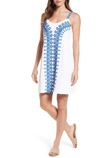Tommy Bahama Embroidered Cotton Shift Dress