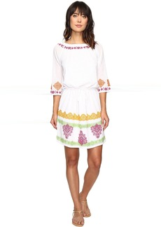 Tommy Bahama Embroidered Gauze Short Dress