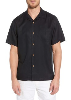 Tommy Bahama Embroidered Grill & Chill Silk Shirt