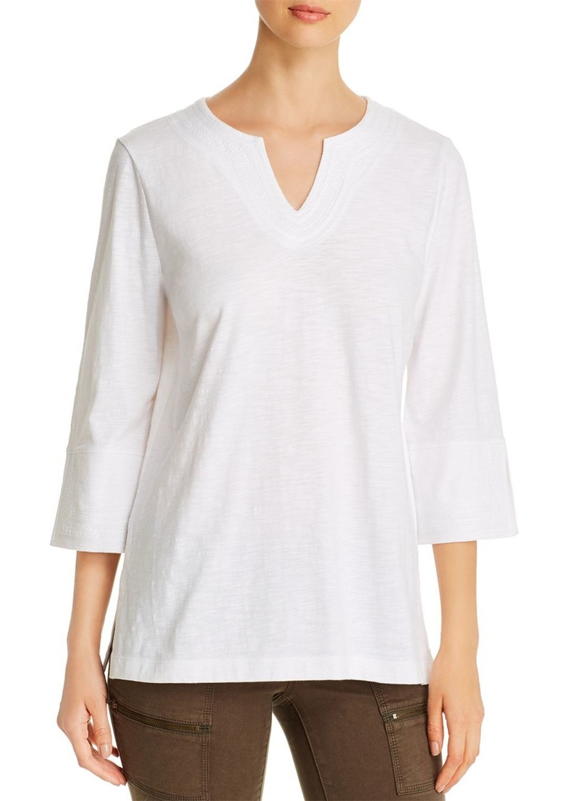 Tommy Bahama Embroidered-Neck Knit Tunic