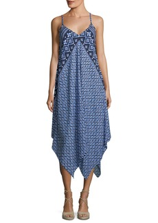 Tommy Bahama Engineered Printed Scarf Coverup Dress