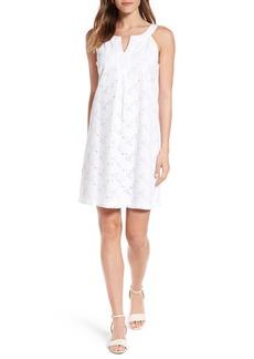 Tommy Bahama Eyelet Cotton Shift Dress