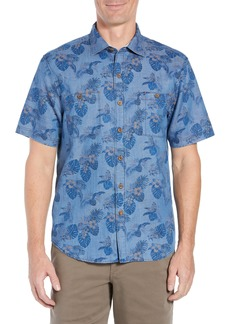 Tommy Bahama Fade-a-Lei Floral Print Short Sleeve Sport Shirt
