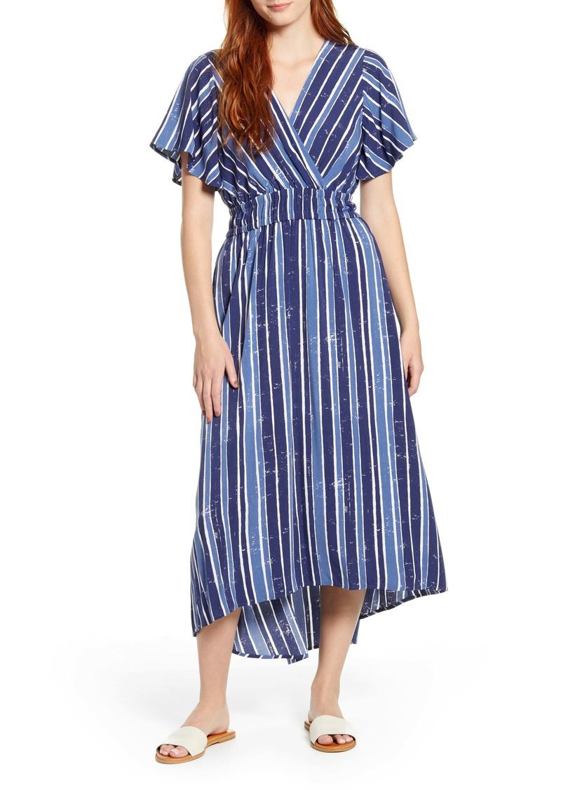 Tommy Bahama Fan Fair Stripe High/Low Maxi Dress