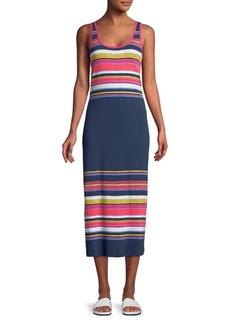 Tommy Bahama Festival Striped Cotton Midi Dress