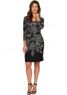 Filigree Floral Short Dress