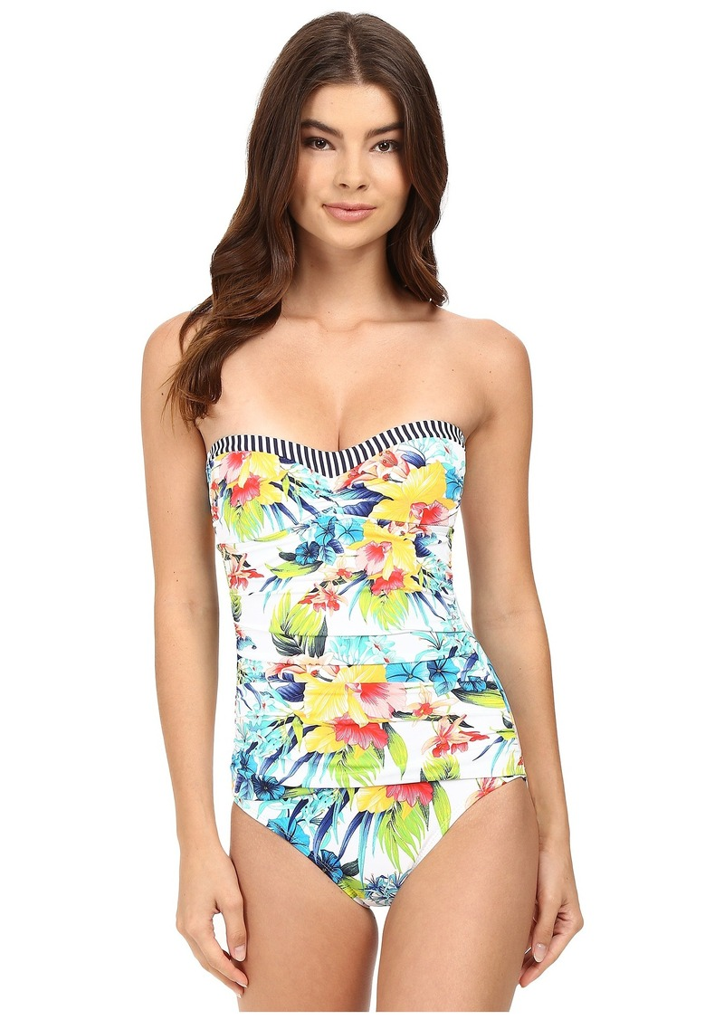 fef04da13df Tommy Bahama Tommy Bahama Fleur de Lite Bandeau One-Piece Swimsuit ...