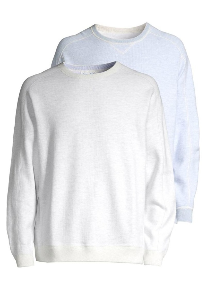 Tommy Bahama Flipsider Reversible Cotton Blend Sweatshirt