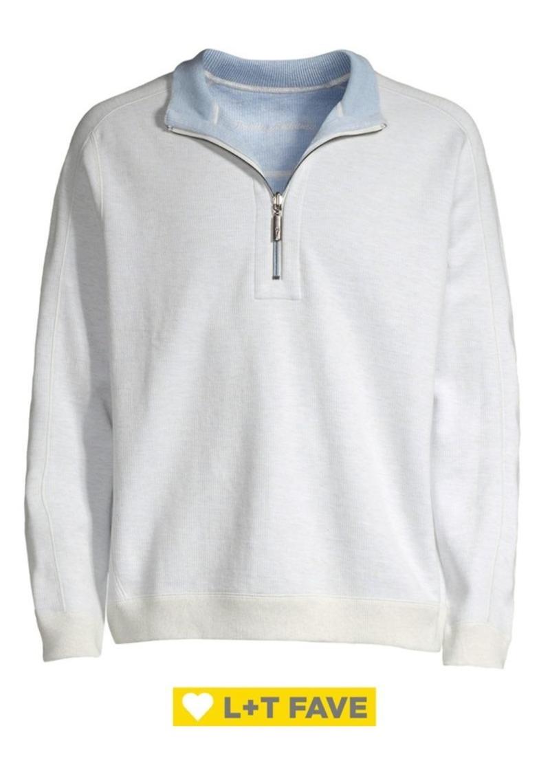 Tommy Bahama Flipsider Reversible Half-Zip Sweatshirt