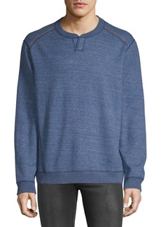 Tommy Bahama Flipsider Split Neck Reversible Sweatshirt