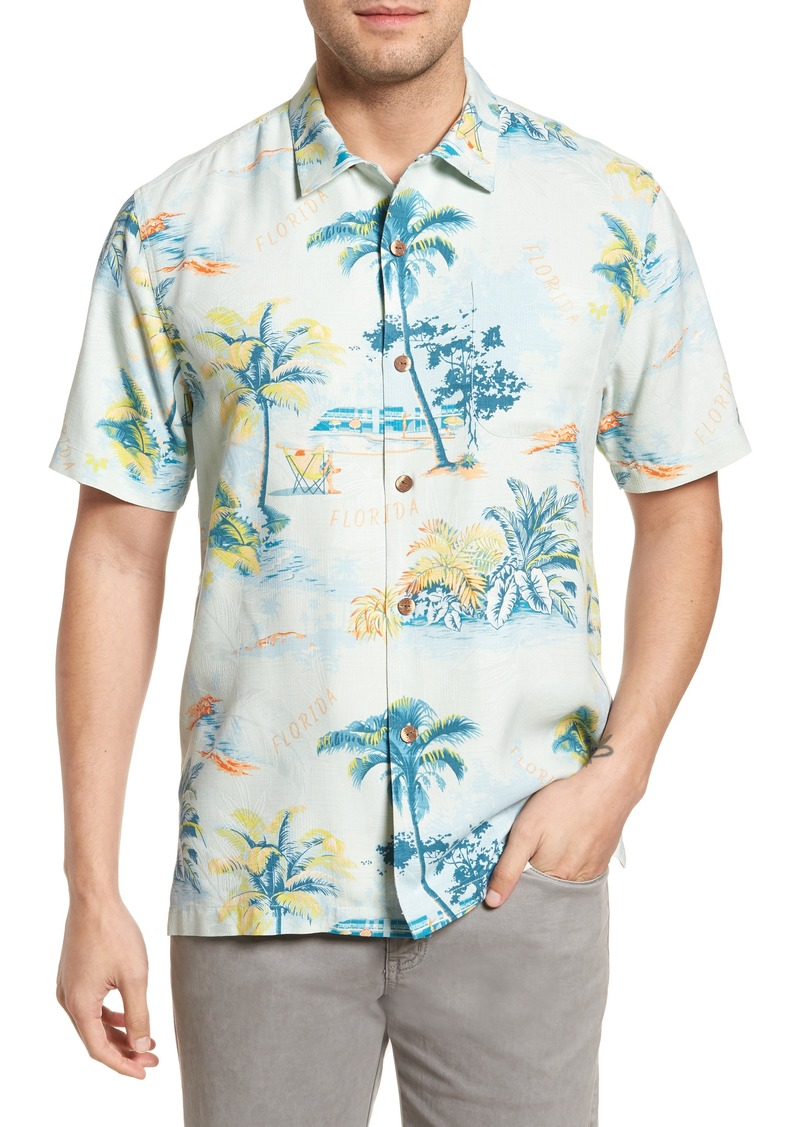 tommy bahama tommy bahama florida palms regular fit silk