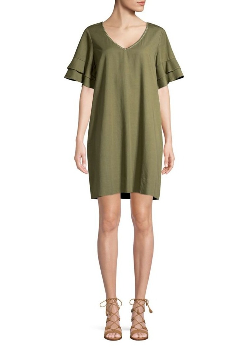 Tommy Bahama Flutter-Sleeve Mini Shift Dress