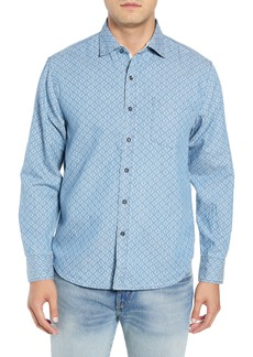 Tommy Bahama Geo Indigo Regular Fit Sport Shirt