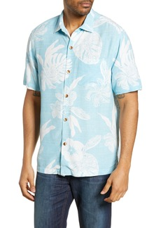 Tommy Bahama Geo Leaf Regular Fit Camp Shirt